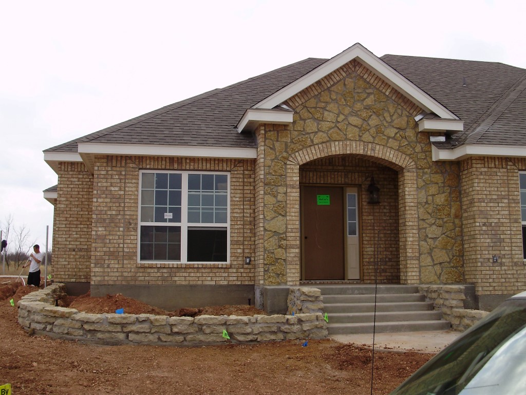 Lueders random big country stone for Stone house construction